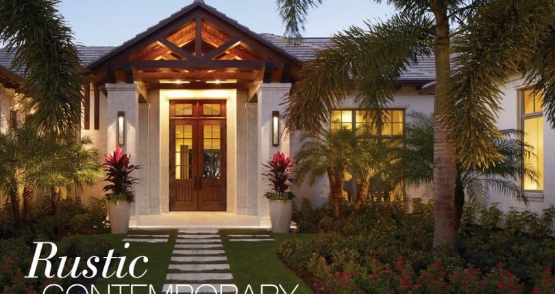 "Rustic Contemporary – A Masterful Developer's ""Home With A Soul"" In Pelican Bay"