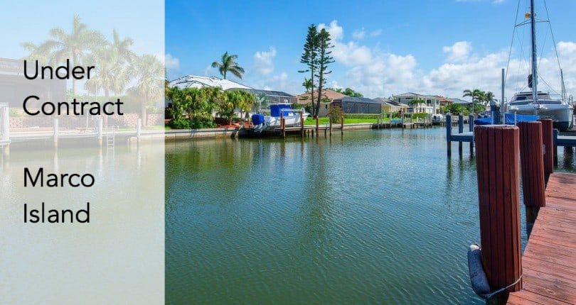 Under Contract | 706 Nautilus Ct | Marco Island, Florida