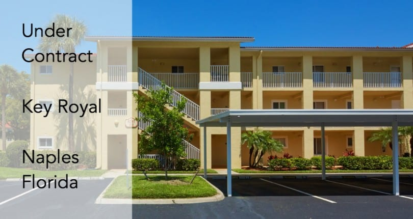 Under Contract | 8297 Key Royal Ln #326 | North Naples